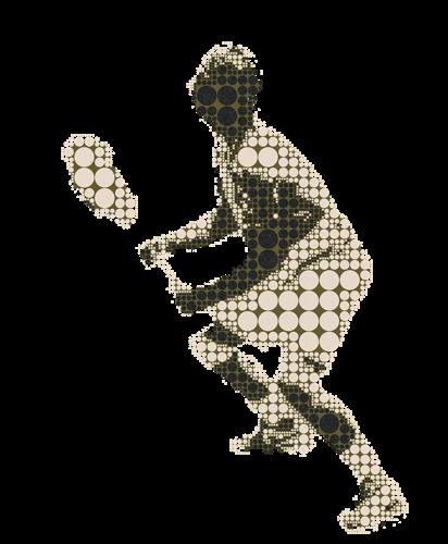 Manschafft_Herren_spilet_tennis_piktogramm_gepünkte_grün